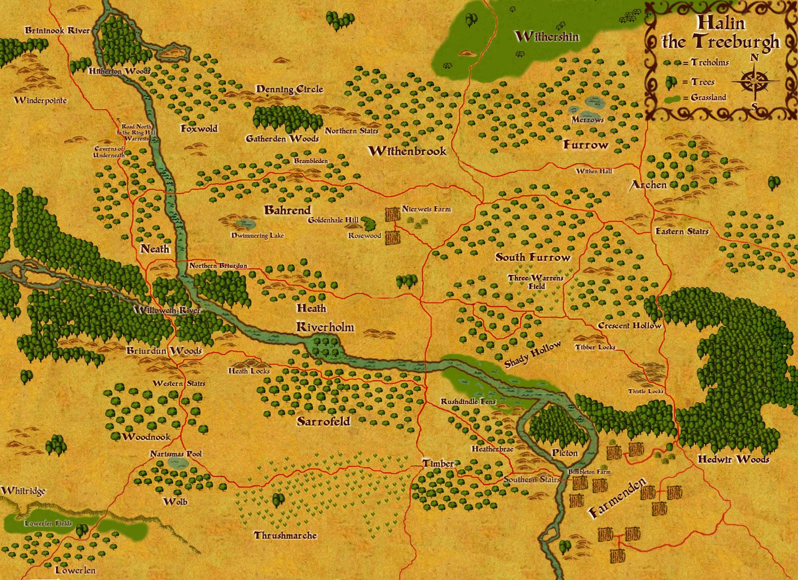 Map of Halin